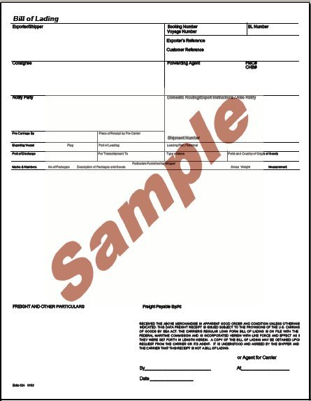 types of bill of lading pdf