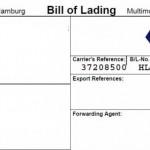 Blank Bill Of Lading