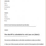 Eviction Letter