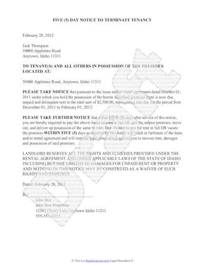 print eviction notice
