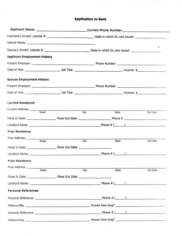 Free Alabama Rental Application Form – Pdf Template