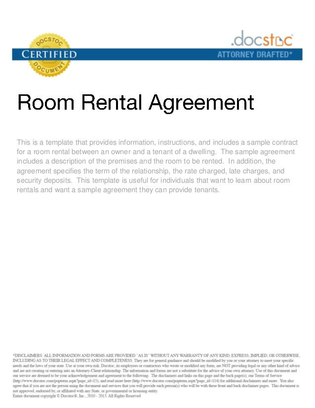 Room Rental Agreement | Real Estate Forms