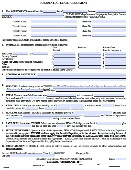Attractive Downloadable Rental Agreement