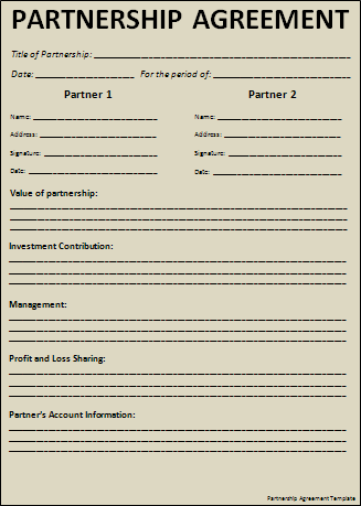 Partnership Agreement Sample Real Estate Forms