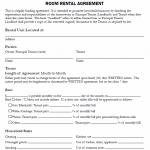 Rental Agreement For Room