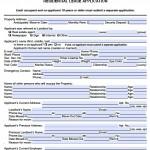 Rental Application Form Pdf