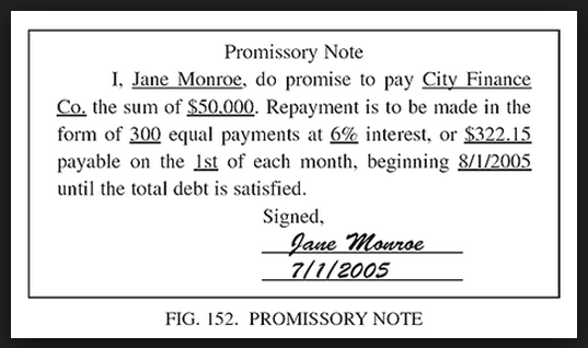 Simple Promissory Note ...  Draft Of Promissory Note