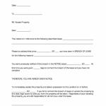 Vacate Notice