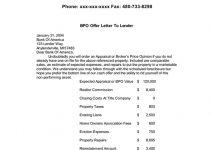 BPO Letter to bank