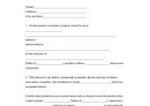 Purchase Bid - Short Form