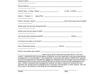Rental Property Pet Application